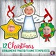 12 Christmas Keepsake Craft Ornament Photo Frame Templates for Elementary