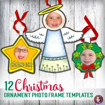 Christmas Ornament Craft Photo Frame Templates for Elementary