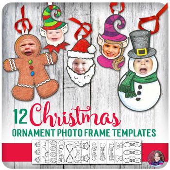 12 Christmas Keepsake Craft Ornament Photo Frame Templates
