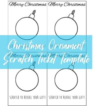 Christmas Ornament Scratch Tickets