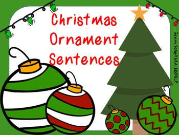 """Christmas Ornament Sentences"" Super Pack"