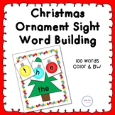 Christmas Ornament Sight Word Building