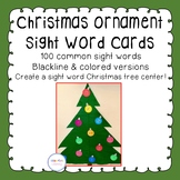 Christmas Ornament Sight Word Cards