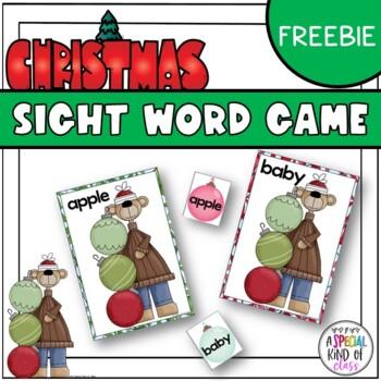 Christmas Ornament Sight Word Match Freebie