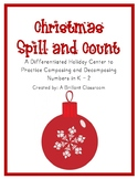 Differentiated Christmas Ornament Spill and Count