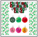 Christmas Ornament Student Cards