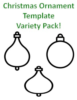christmas ornaments templates teaching resources teachers pay teachers