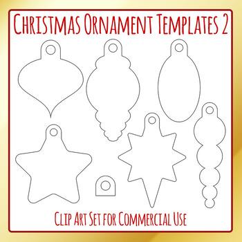 Christmas Ornament Templates 2 Craft Clip Art Pack for Com
