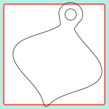 Christmas Ornament Templates Craft 3 Clip Art Pack for Commercial Use