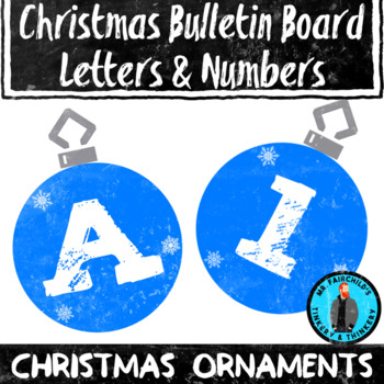 Christmas Ornament Theme Bulletin Board Letters/Numbers Holiday Theme Clip Art