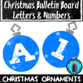 Christmas Ornament Theme Bulletin Board Letters/Numbers Ho