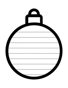 Christmas Ornament Writing Paper Ornament Writing Template Ornament Paper Lined