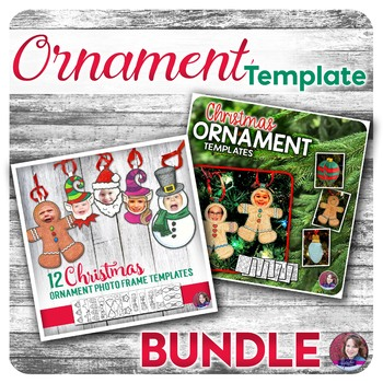 Christmas Ornament and Photo Frame Craft Templates for Elementary - BUNDLE