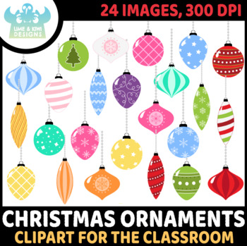 Christmas Ornaments 2 Clipart | Instant Download Vector Art | Commercial Use Cli