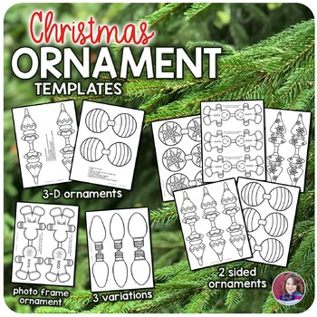 Christmas Ornament Craft Templates for Elementary