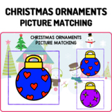 Christmas Ornaments Boom Cards - Picture Matching Activity