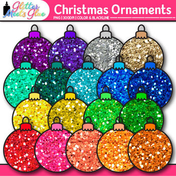 Christmas Ornament Clip Art {Balls and Bulbs for Digital Scrapbooking}