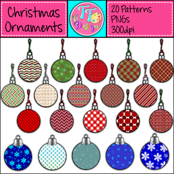 Christmas Ornaments For Patterning Clip Art CU OK