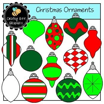 Christmas Ornaments Clip Art Set