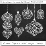 Christmas Ornaments Clipart Chalkboard Tree Decorations Ga