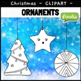 Christmas Ornaments Clipart Graphics Clip Art FREEBIE