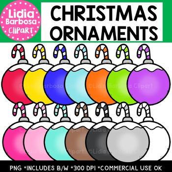 Christmas Ornaments Clipart {Lidia Barbosa Clipart}