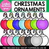 Christmas Ornaments Clipart {Lidia Barbosa Clipart}