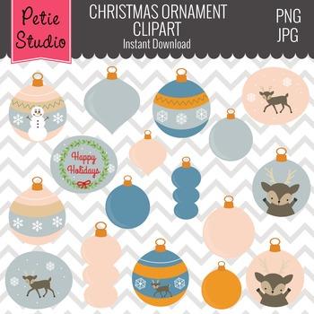 Christmas Ornaments Clipart // Woodlands Ornaments // Winter Clipart - Winter107