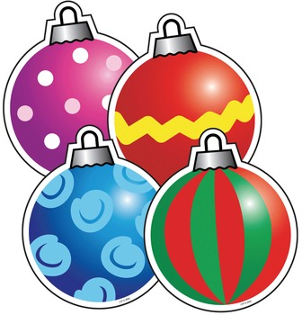 christmas ornaments colorful holiday cut out decor