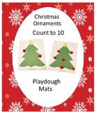 Christmas Math Centers, Christmas Play Dough Mats, Special Education, Autism