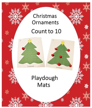 Christmas Ornaments  Count to 10 Playdough Mats