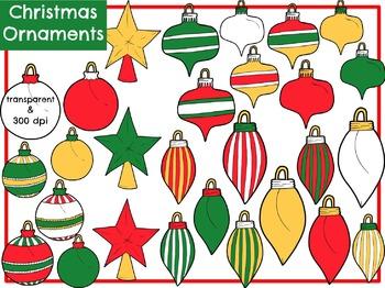 Christmas Ornaments (Digital Clip Art)