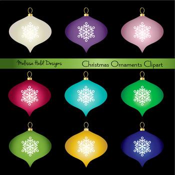 Christmas Ornaments Digital Clipart