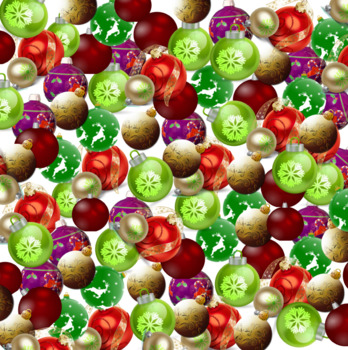 Christmas Ornaments Digital Paper-Free