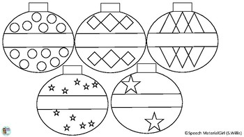 Christmas Ornaments Freebie Free Coloring Pages Color And Cut Hang
