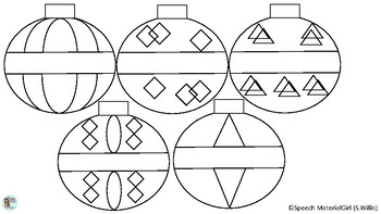 Christmas Ornaments Freebie Free Coloring pages (Color and Cut) hang on tree