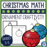 Christmas Ornaments Geometry Craftivity