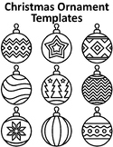 Christmas Ornaments Templates Christmas Ornaments to Color
