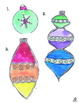 Christmas Ornaments Using the Elements of Art