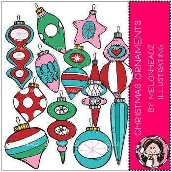 Christmas Ornaments clip art - COMBO PACK - Melonheadz Clipart