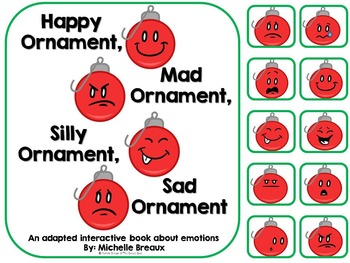 Christmas Ornaments of Emotions Adapted Book {Autism, Earl