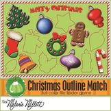 Christmas Outline Shape File Folder Game