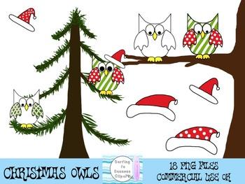 Christmas Owl Clipart