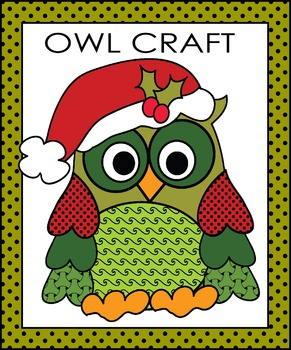Christmas Owl Craft By Johnston Digital Designs Tpt