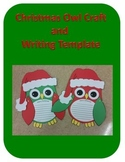 Christmas Owl Craft and Writing Template