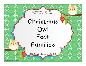 Christmas Owl Fact Families