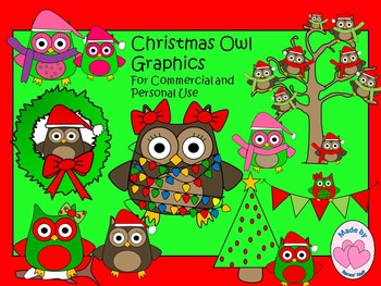 Christmas Owl Graphics for Personal and Commercial Use
