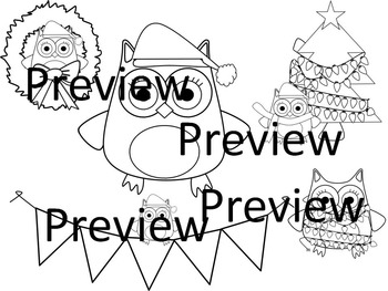 Christmas Owl Graphics for Personal and Commercial Use Freebies