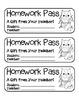 """Christmas Owl"" Homework Pass –Holiday FUN! (full color &"