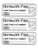 """Christmas Owl"" Homework Pass –Holiday FUN! (full color & black line version)"